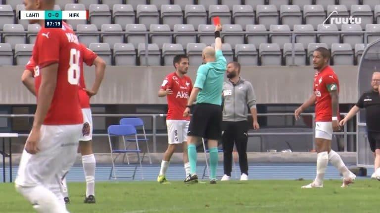 Video: Täysin älyvapaa pulkkataklaus – HIFK:n Pipe Saez rysäytti koiville ja sai suoran punaisen