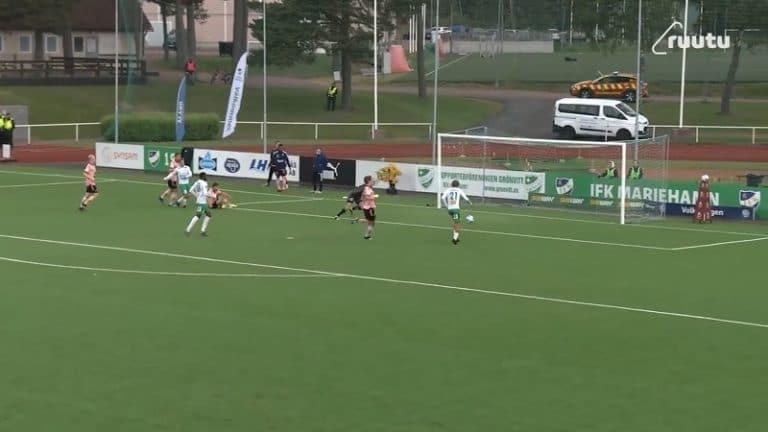 Video: Täysin älytön pelastus – HJK-toppari Miro Tenho ryöväsi huikeasti aivan pomminvarman maalin