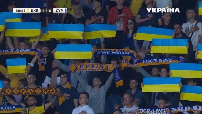 Venäjä ja Ukrainan pelipaidat / Pallomeri.net