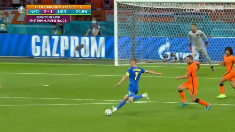 Video: Ukrainan Andriy Yarmolenko säväytti EM-kisoissa – täräytti aivan maagisen laukauksen
