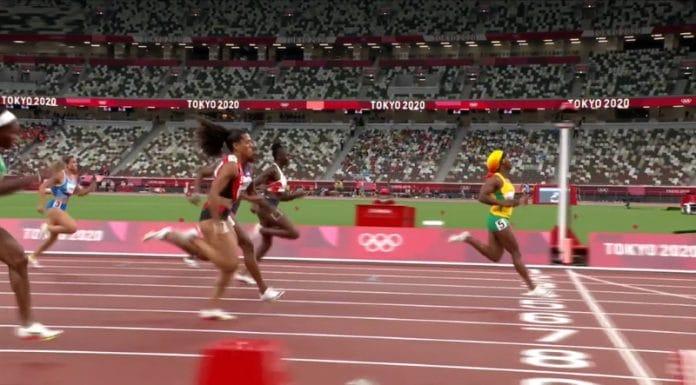 100 metrin semifinaali tokio olympialaiset Shelly-Ann Fraser-Pryce - pallomeri.net