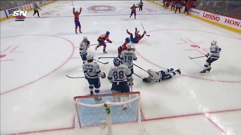 Video: Montrealin Josh Anderson piti finaalisarjan elossa – syöksyi kiekon perään ja väänsi huikean tahtomaalin