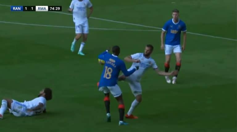 Video: Glen Kamara sai kokea kovia – Real Madridin Nacholle punainen kortti
