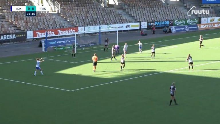 Video: Melkoinen tohelointien sarja Kansallisessa liigassa – HJK sai lopulta hyödynnettyä TiPS:n mokat