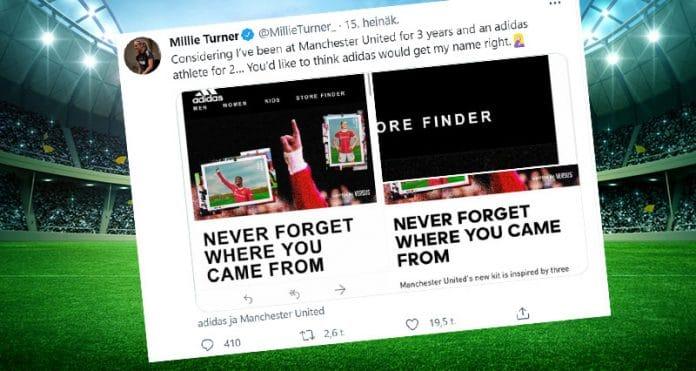 Millie Turner Manu Adidas - pallomeri.net
