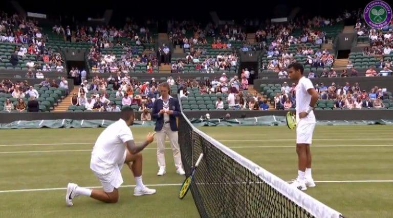 Video: Koomista menoa Wimbledonissa – Nick Kyrgios unohti tennistossunsa pukukoppiin