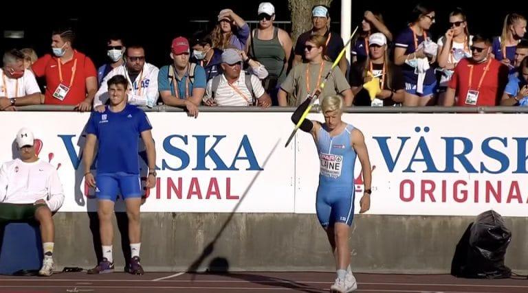 Video: Topias Laine voitti nuorten Euroopan mestaruuden keihäänheitossa!