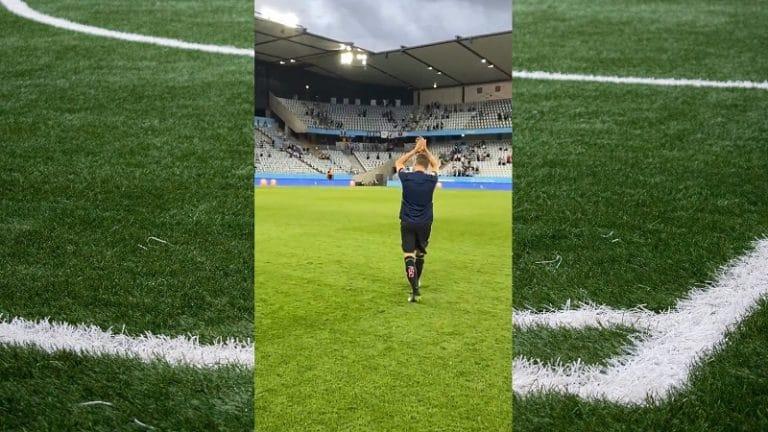 Video: Kylmät väreet – HJK:n Markus Halsti sai mahtavan kunnianosoituksen Malmön faneilta