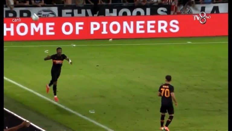 Video: Galatasaray-pelaaja tumpeloi Mestarien liigan karsinnassa – heitti itseään pallolla takaraivoon