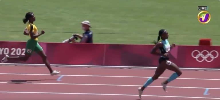 Video: Jamaikalaisjuoksijalle karmaiseva moka 200 metrillä – himmasi ennen maaliviivaa ja putosi jatkosta