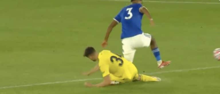 Video: Leicesterin Wesley Fofana loukkaantui karmealla tavalla harjoitusottelussa