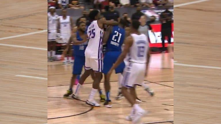 Video: NBA-matsissa käytiin kuumana – Kings-pelaaja rikkoi rumasti, Mavericksin pelaaja veti turpaan
