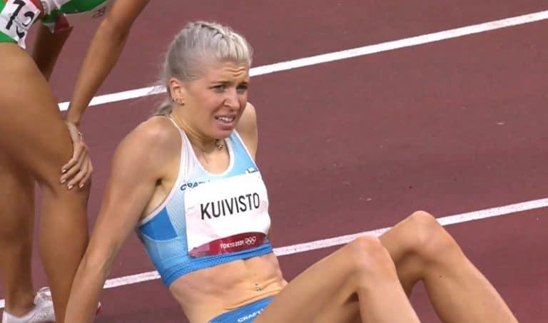 Sara Kuivisto teki huimaa yleisurheilun olympiahistoriaa viimeisimmällä SE-juoksullaan