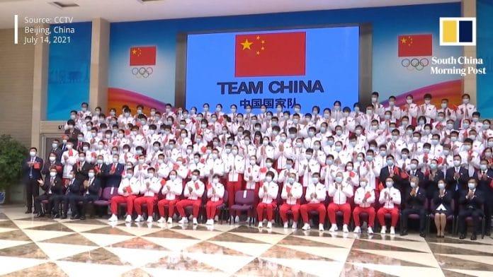 Kiinan olympiajoukkue Tokio / Pallomeri.net
