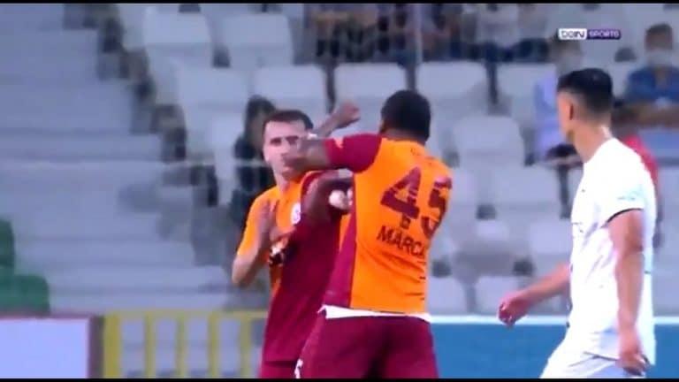 Video: Galatasarayn Marcao otti ääliömäisen ulosajon – kävi joukkuetoverin kimppuun kesken pelin