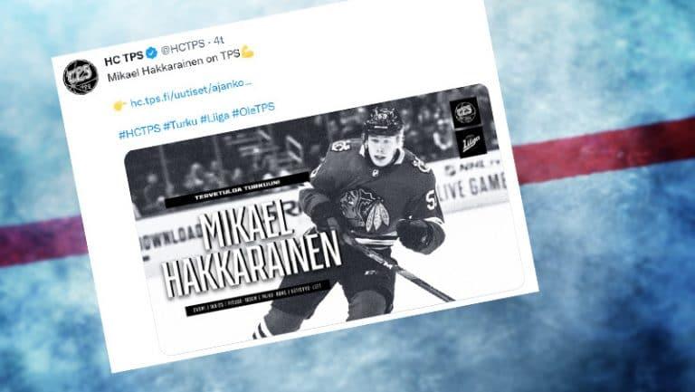 NHL:n kohukaupassa siirtynyt Mikael Hakkarainen saapuu Liigaan – uusi seura TPS