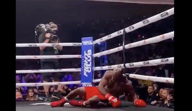 Video: 58-vuotias nyrkkeilylegenda Evander Holyfield palasi kehään – tyrmättiin tylyllä tavalla