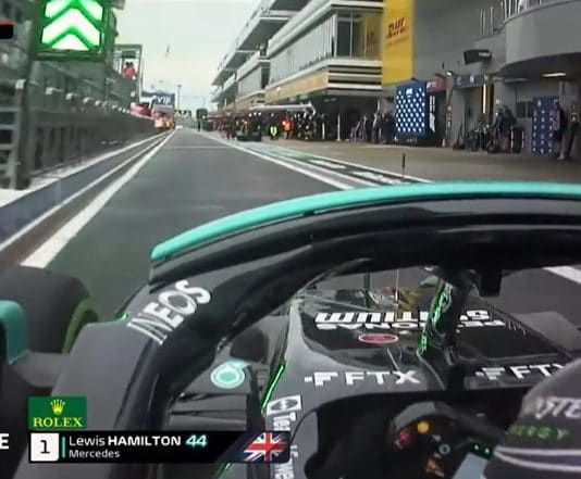 Lewis Hamilton ajoi seinään varikkosuoralla venäjän gp f1 - pallomeri.net