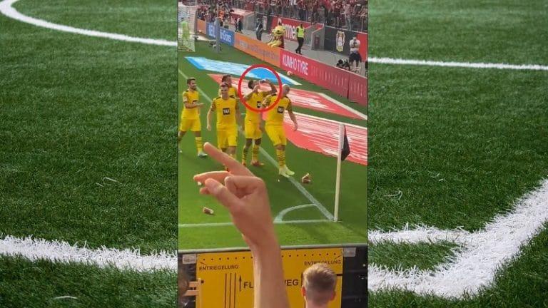 Video: Dortmund joutui tuoppisateeseen juhliessaan maalia – Jude Bellingham kumosi yhden kurkkuunsa