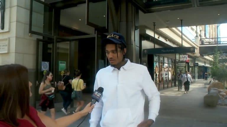 Video: Tv-toimittajalla löi koomisesti tyhjää – ei tunnistanut Jazzin pelaajaa tehdessään gallupia hänen joukkueestaan