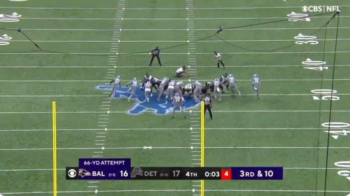 kaikkien aikojen pisin potkumaali NFL Baltimore Ravens - pallomeri.net