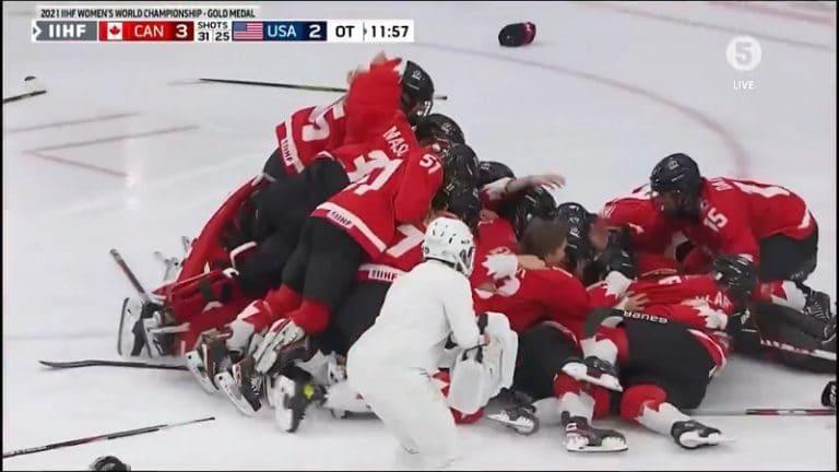 Video: Huikeaa jatkoaikadraamaa – peli ehti jatkua 38 sekuntia ennen kuin Kanadan voittomaali huomattiin