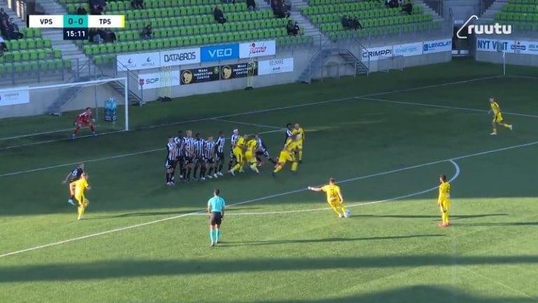 Video: Huikea vaparimaali Ykkösessä – TPS:n Juri Kinnunen painoi pommin aivan yläpesään