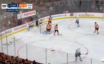 Elias Pettersson Vancouver Canucks Philadelphia Flyers NHL - Pallomeri.net