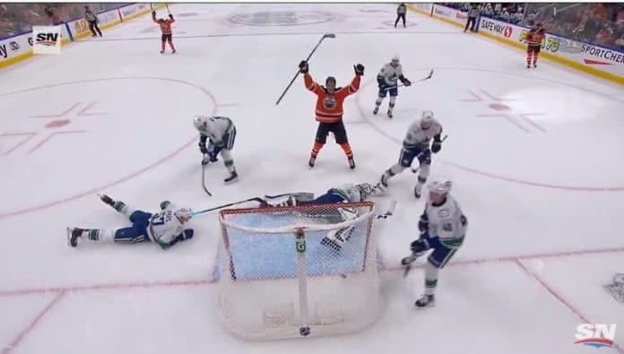 Jesse Puljujärvi kauden avausmaali Edmonton Oilers - pallomeri.nett