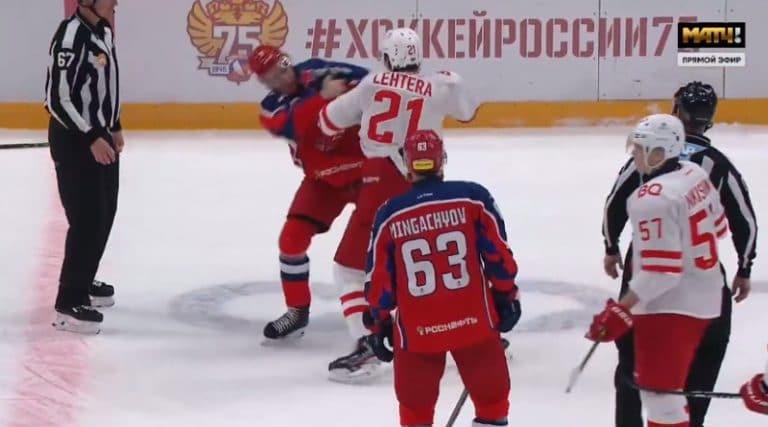 Video: Jori Lehterä myllytti KHL:ssä – tanssiparina CSKA:n Matvei Guskov