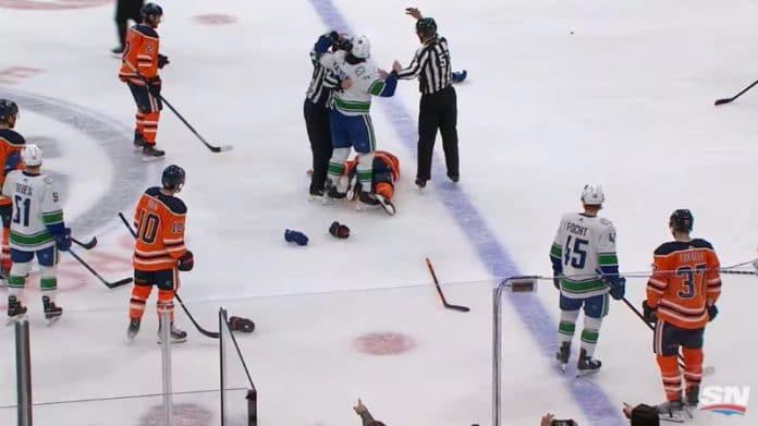 NHL pelottava tilanne Zack Kassian Zack MacEwen - pallomeri.net