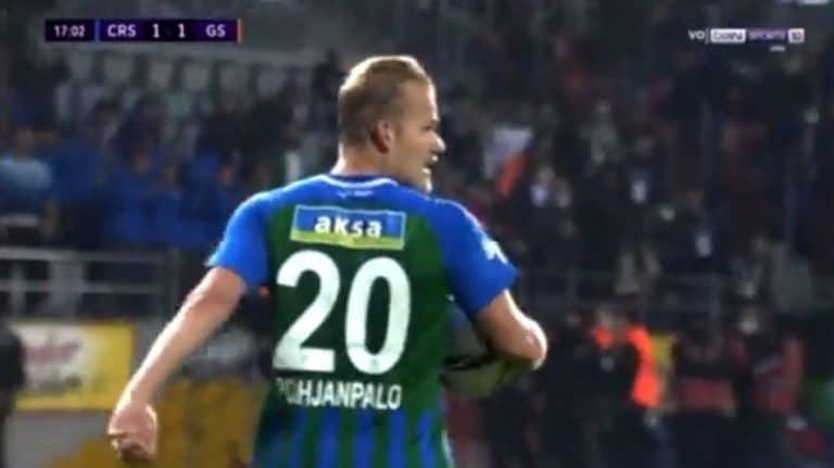 Video: Joel Pohjanpalo ilmiliekeissä – venytti Galatasarayn verkkoa kahdesti 9 minuutin sisään