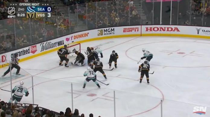 Seattle Kraken NHL-historian ensimmäinen maali Joonas Donskoi - pallomeri.net