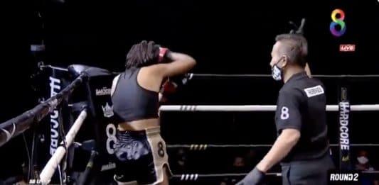 Thainyrkkeilyottelussa