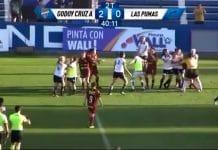 Godoy Cruzin ja Las Pumasin joukkotappelu / Pallomeri.net