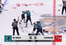 KHL HK Sotshi-Avangard Omsk / Pallomeri.net