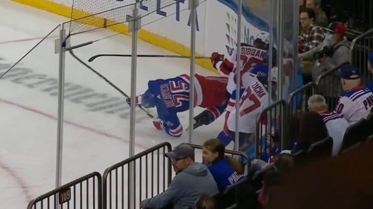 Video: Rangersin Ryan Reaves loukkaantui karmivasti – jalka taittui todella rumasti