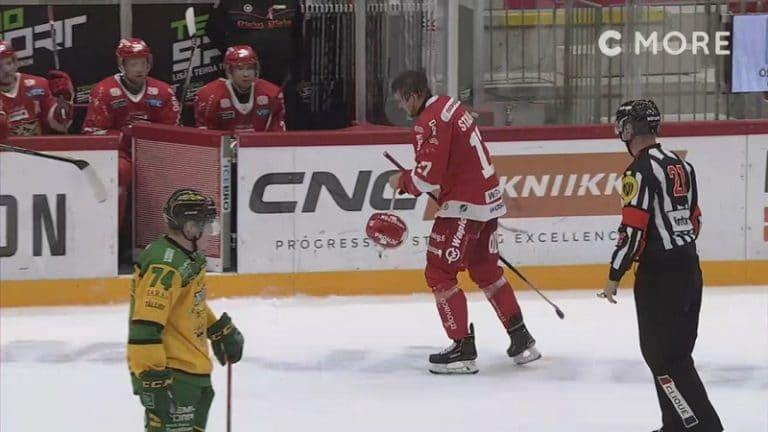 Video: Sport-hyökkääjä otti osumaa joukkueen puolesta – Ilves-pakin kuti lävähti verisesti päähän
