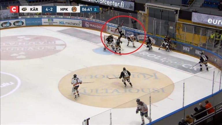 Video: HPK:n Tommi Tikka sai neljän ottelun pelikiellon tuomarin kampittamisesta
